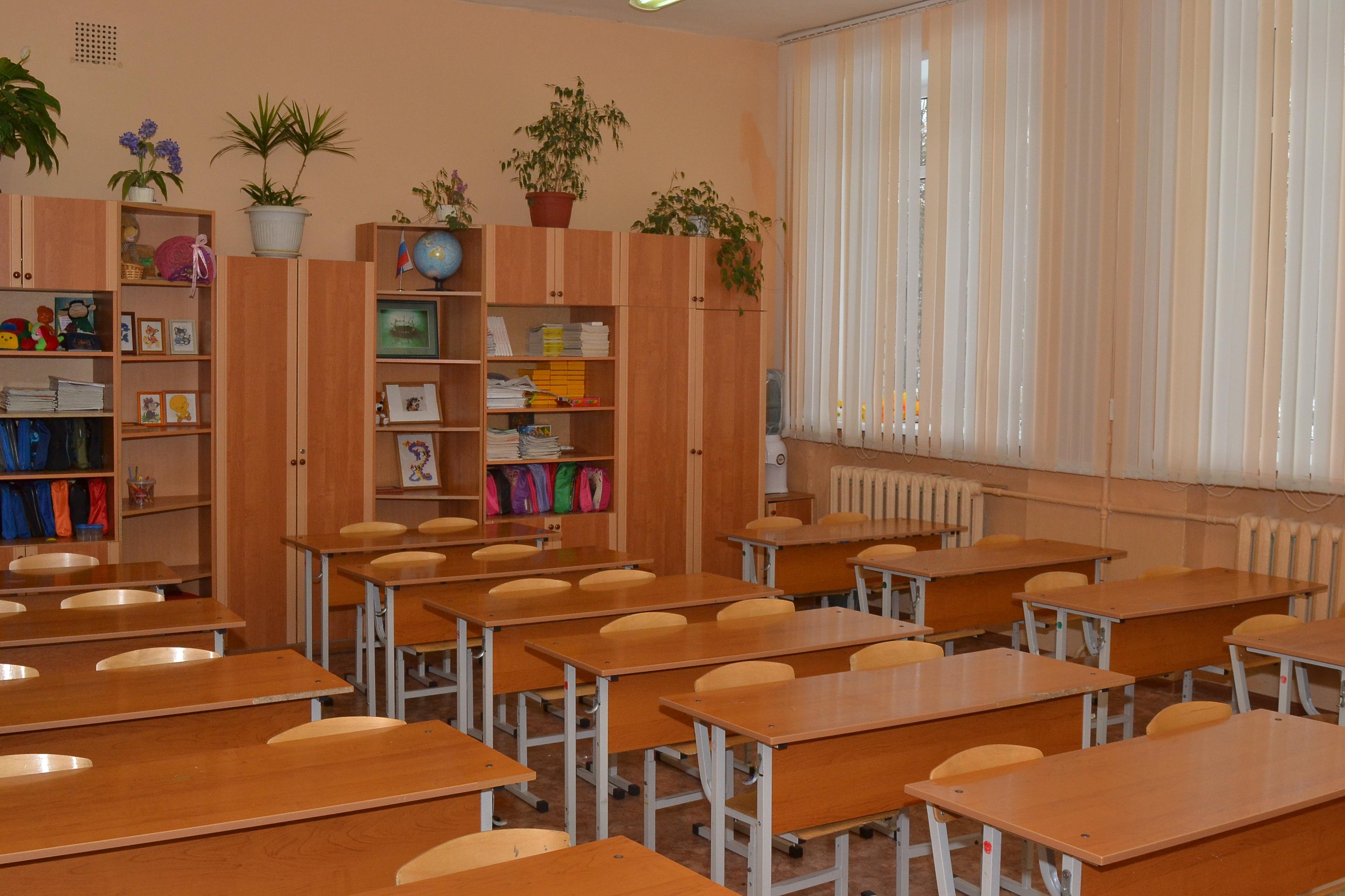 Кабинет № 8 - начальные классы .